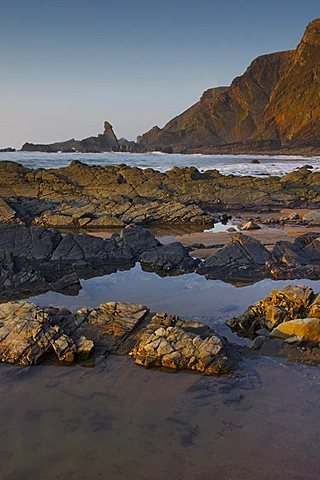 Hartland Quay, Woolacombe, Devon, England, United Kingdom, Europe - 478-4855