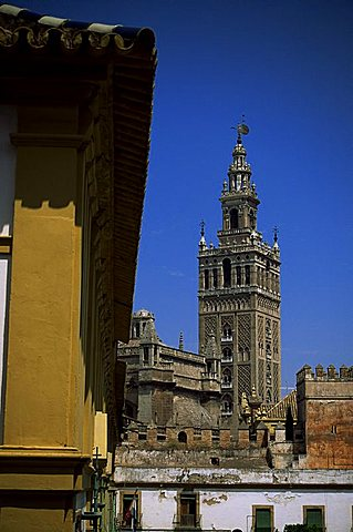 Giralda tower, Seville, Andalucia, Spain, Europe