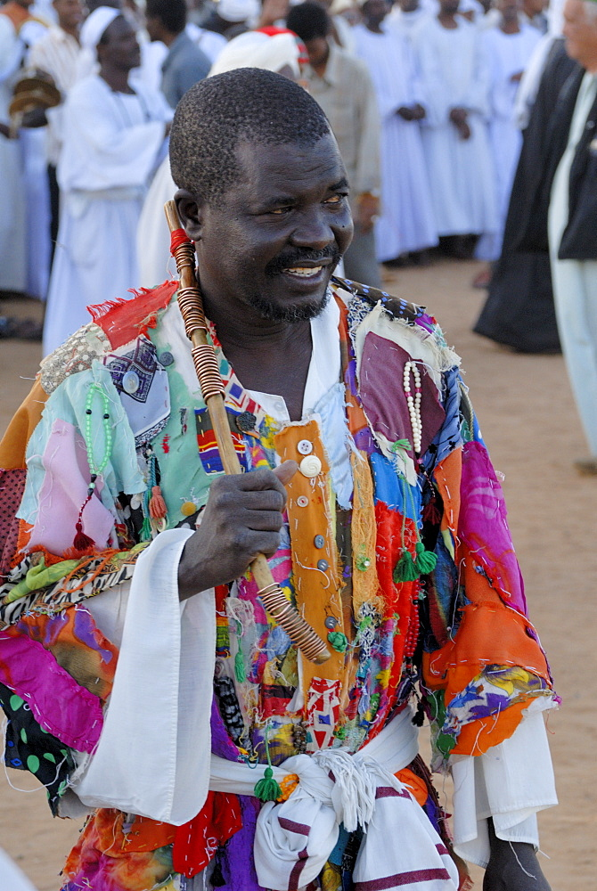 Whirling dervishes, official at Sufi ceremony, Omdurman, Sudan, Africa