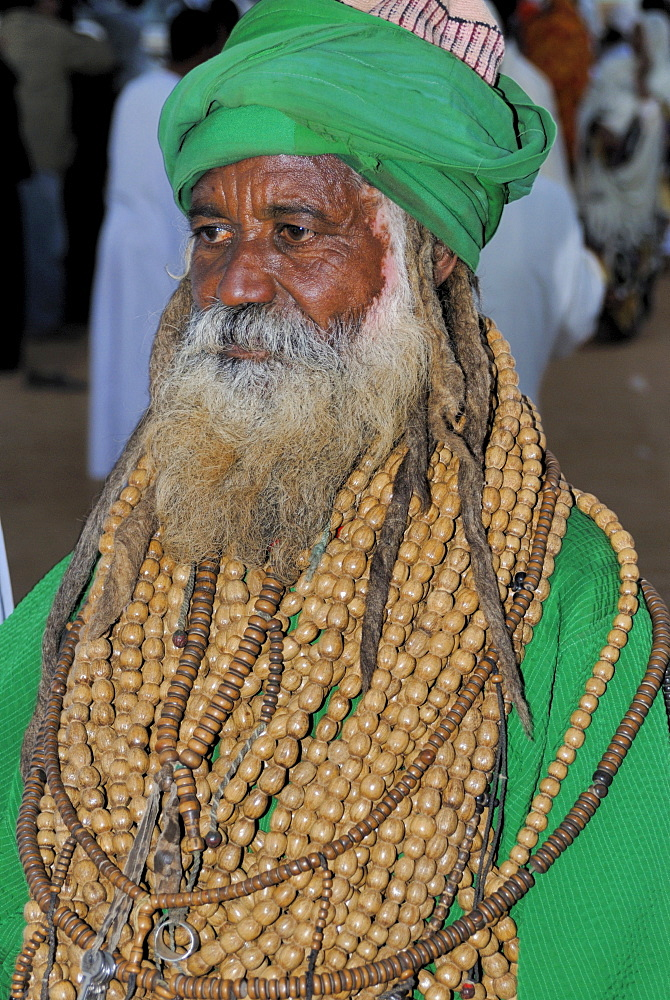 Whirling dervishes, high priest at Sufi ceremony, Omdurman, Sudan, Africa