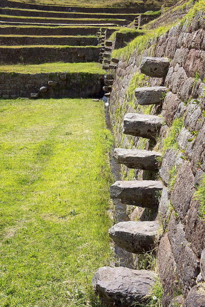 Inca stepping stones, Tipon, Peru, South America