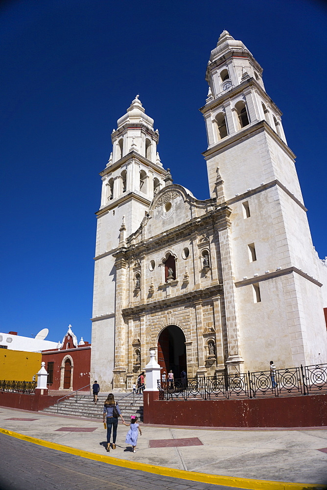 Cathedral, Nuestra Signora de Purisima Concepcion, Campeche, UNESCO World Heritage Site, Mexico, North America