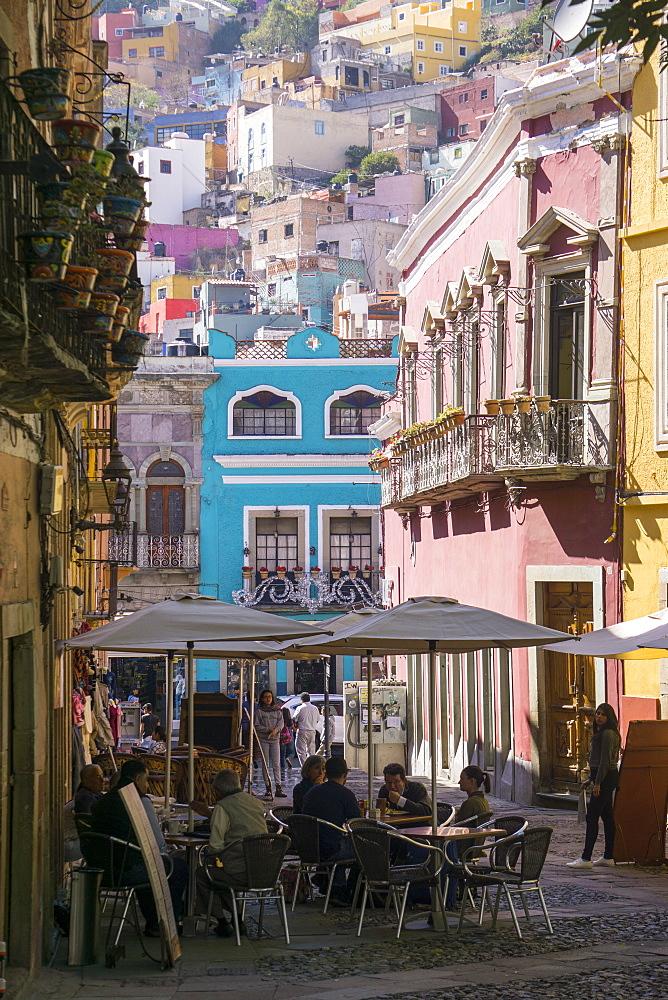 Street scene, Guanajuato, Mexico, North America - 483-2076
