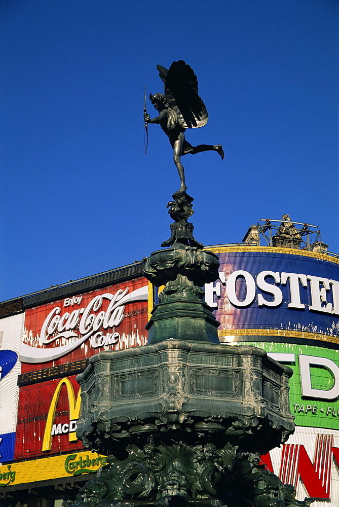 Statue of Eros, Piccadilly Circus, England, United Kingdom, Europe