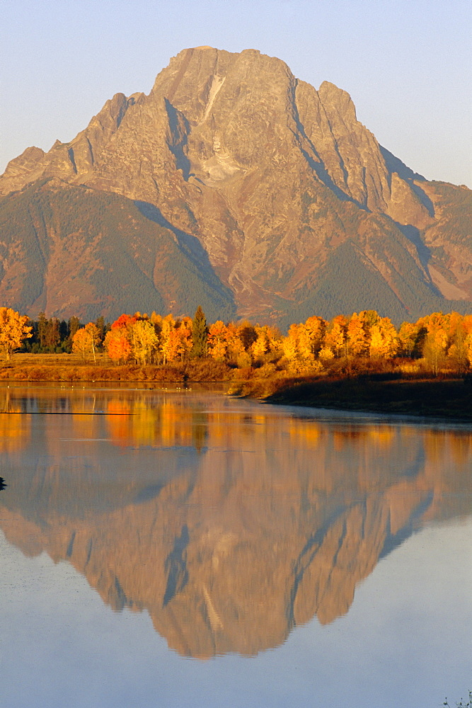 Oxbow Bend, Snake River and Tetons, Grand Tetons National Park, Wyoming, USA