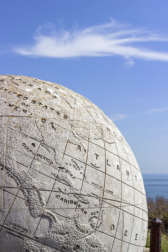 The Great Globe at Durlston Castle, Isle of Purbeck, Dorset, England, United Kingdom, Europe - 485-9679