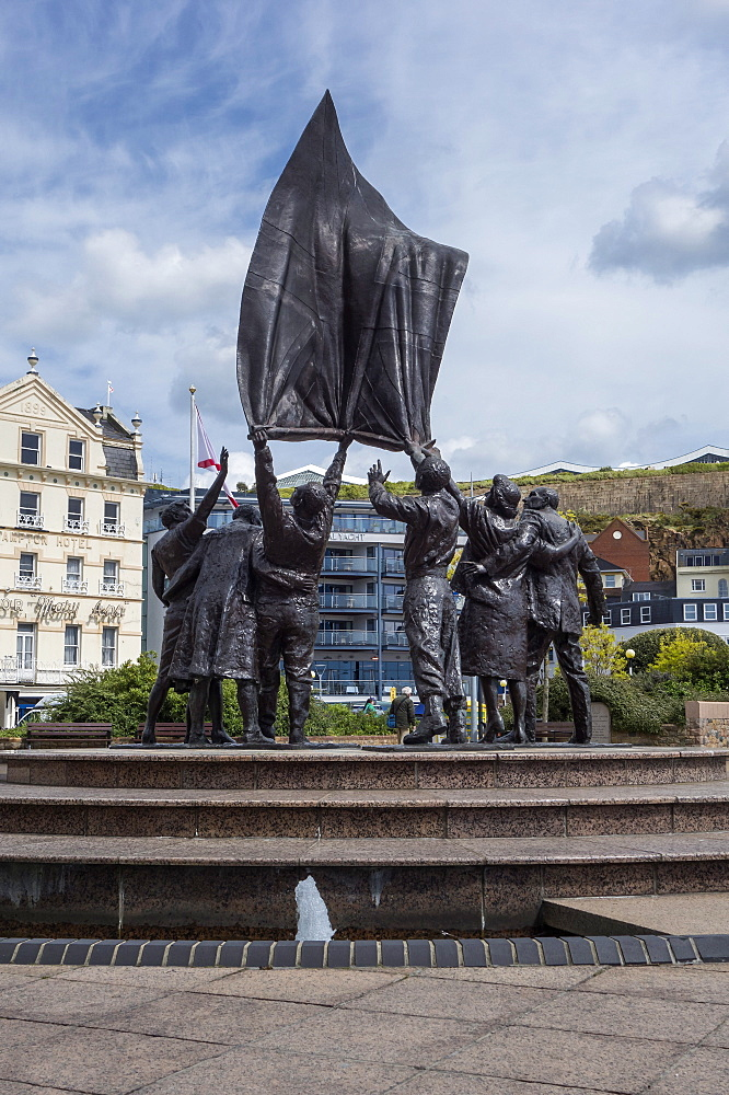Liberation Sculpture, Liberation Square, St. Helier, Jersey, Channel Islands, United Kingdom, Europe - 485-9682