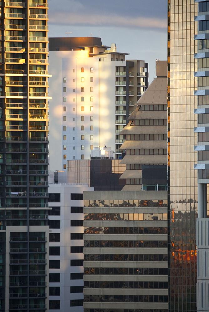 Close-up of buildings in city centre, Brisbane, Queensland, Australia, Pacific