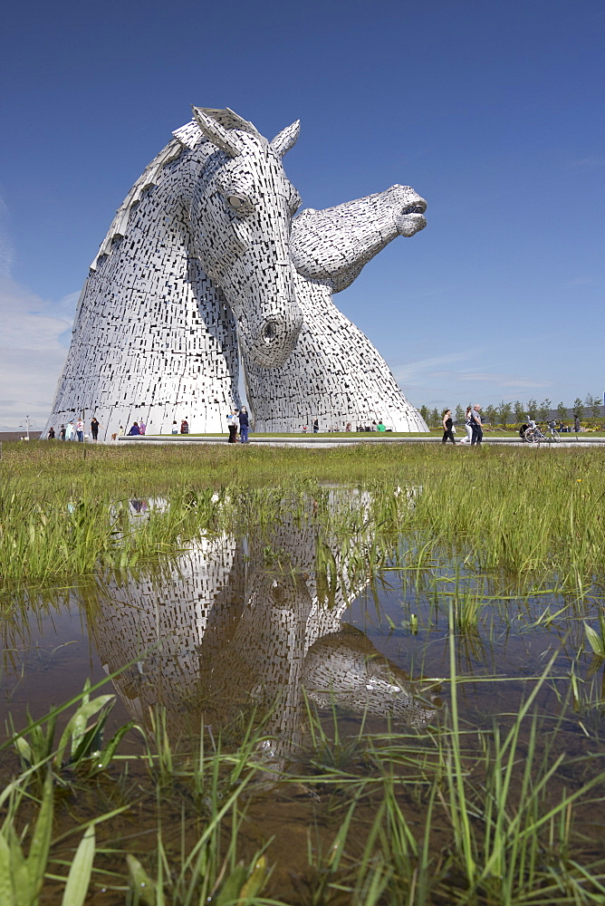 The Kelpies by Andy Scott, Helix Park, Falkirk, Scotland, United Kingdom, Europe