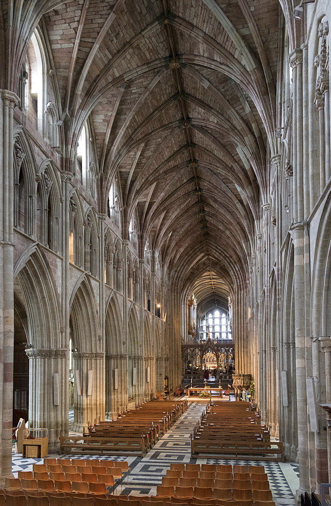 Interior looking East, Worcester Cathedral, Worcester, England, United Kingdom, Europe - 489-1669