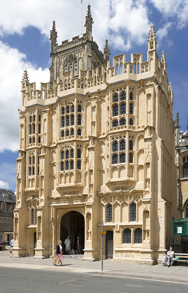 South Porch, Church of St. John Baptist, Cirencester, Gloucestershire, England, United Kingdom, Europe - 489-1682