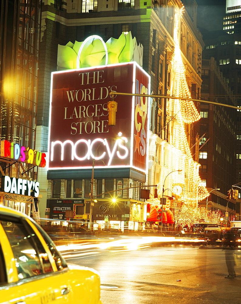 Christmas lights, Macy's, New York City, New York, United States of America, North America - 505-1239