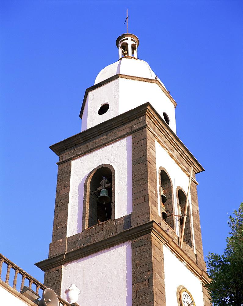 San Gines church spire, Arrecife, Lanzarote, Canary Islands, Spain, Europe - 505-3092