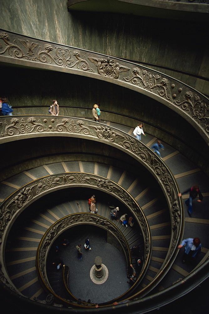 Public staircase to Vatican Museum, Vatican, Rome, Lazio, Italy, Europe - 508-12094
