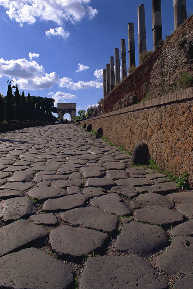 Via Sacra leading to Forum, Rome, Lazio, Italy, Europe - 508-12169