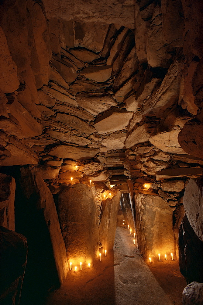 Interior, Newgrange, County Meath, Republic of Ireland (Eire), Europe