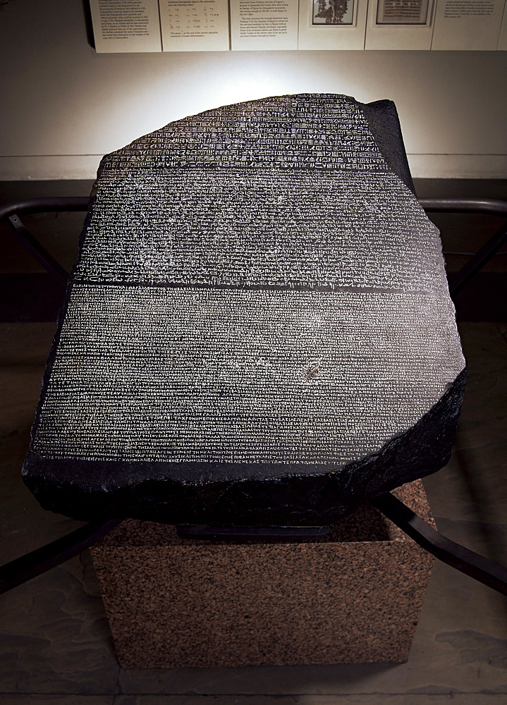 The Rosetta Stone, British Museum, London, England, United Kingdom, Europe