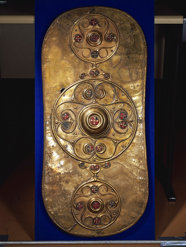 The Battersea Shield, Celtic, from early Iron Age in the first century AD, British Museum, London, England, United Kingdom, Europe - 508-16642