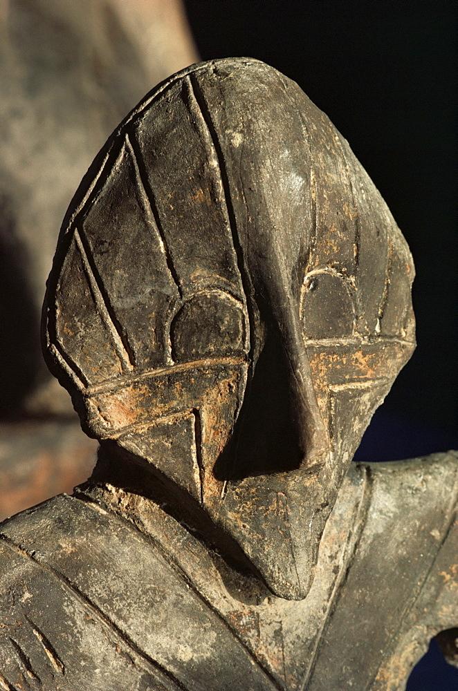 Close-up of carving, Vinca culture, Belgrade Museum, Serbia, Europe