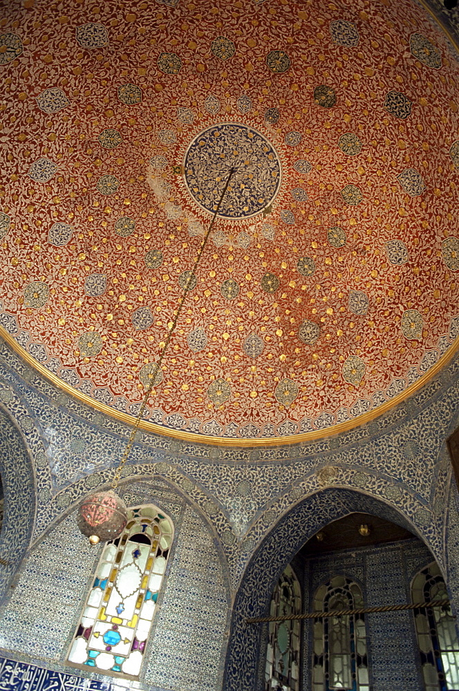 Interior, Baghdad Kiosk, Topkapi Palace, UNESCO World Heritage Site, Istanbul, Turkey, Europe, Eurasia
