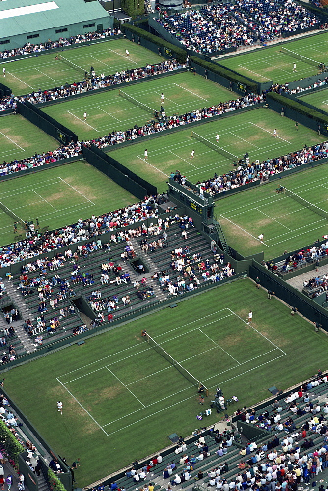 Aerial view of Wimbledon, England, United Kingdom, Europe