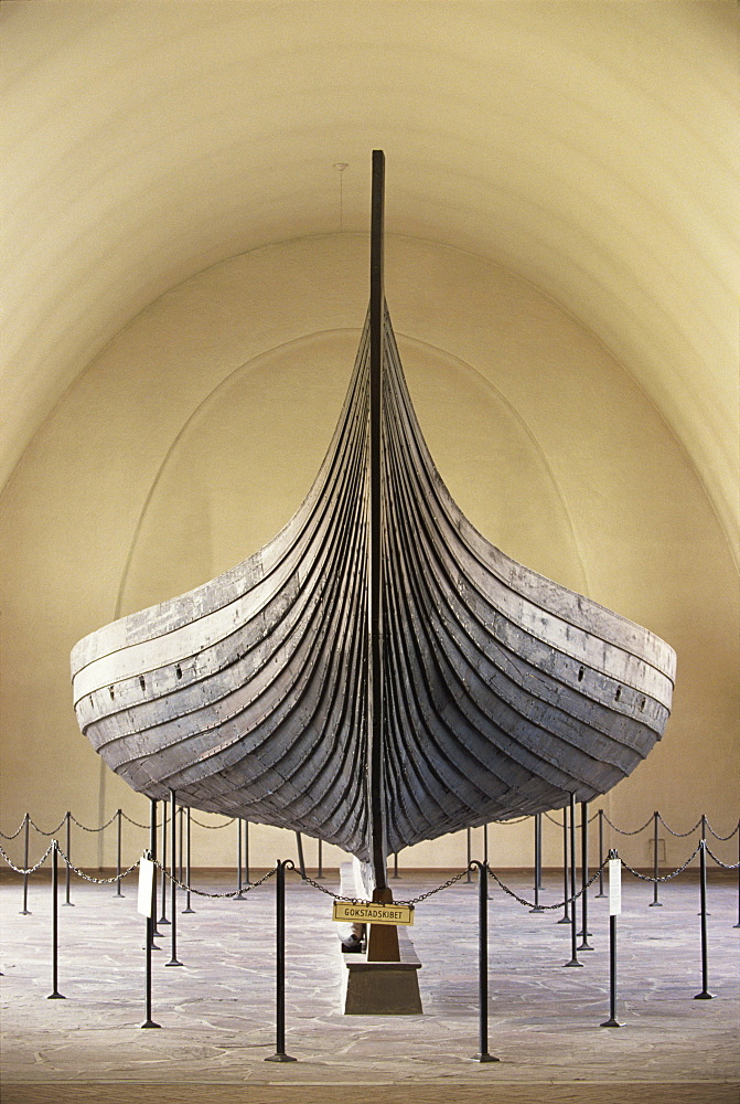Gokstad Ship, Viking Ship Museum, Bygdoy, Oslo, Norway, Scandinavia, Europe - 508-39165