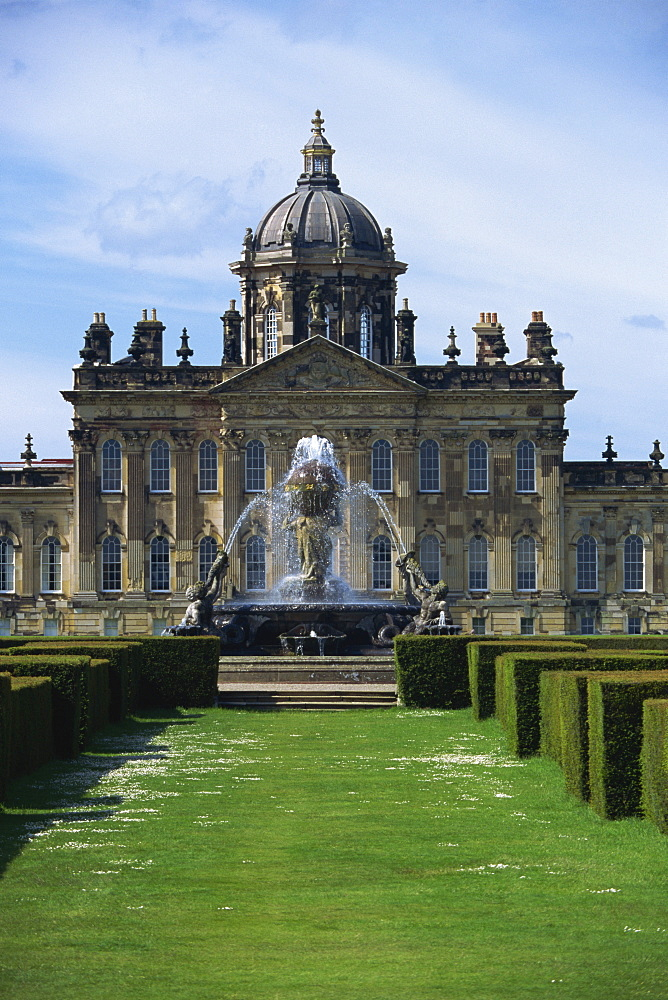 Castle Howard, location of Brideshead Revisited, Yorkshire, England, United Kingdom, Europe - 508-46387