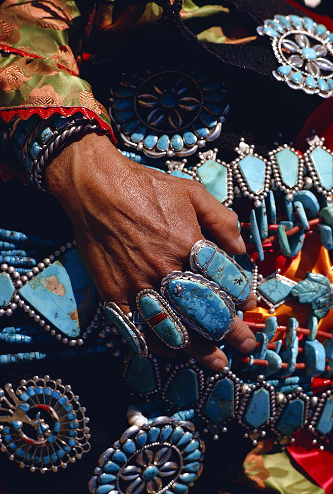 Zuni Indian jewellery, New Mexico, United States of America, North America
