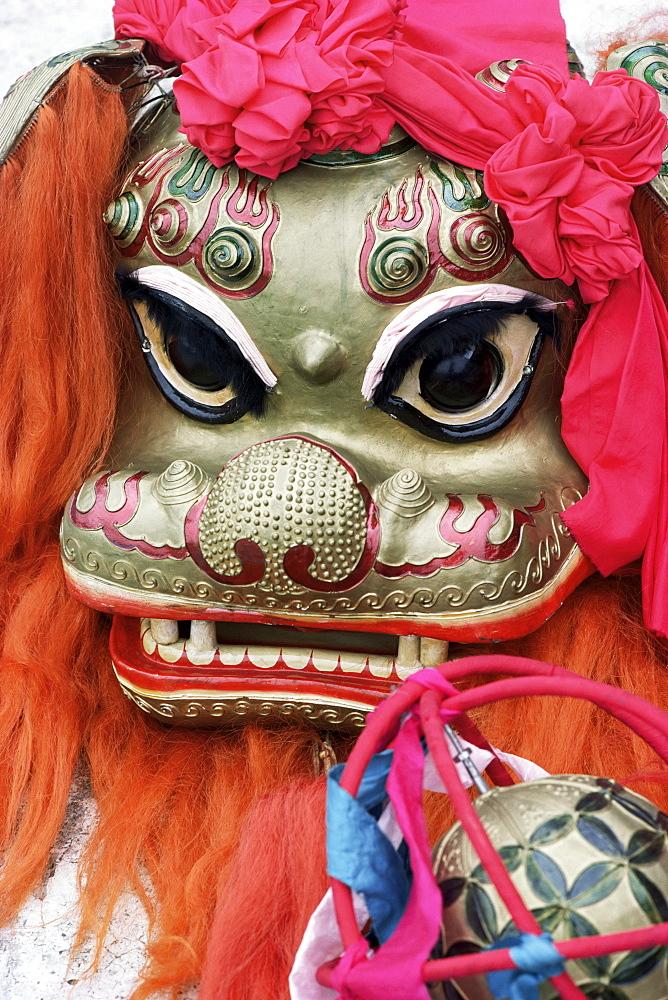 Lion mask, festival, Singapore, Asia