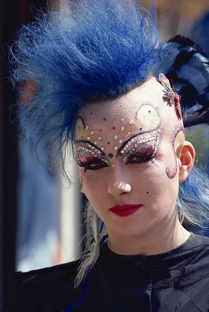 Portrait of a punk, Kensington, London, England, United Kingdom, Europe - 508-9132