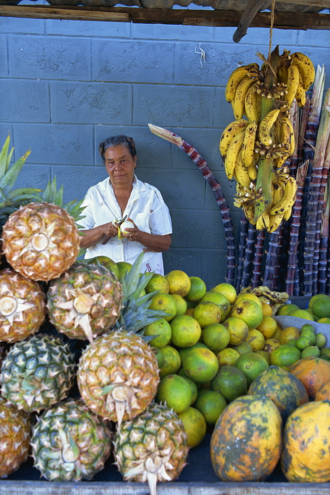 Fruit seller, Dominican Republic, West Indies, Caribbean, Central America - 526-1738