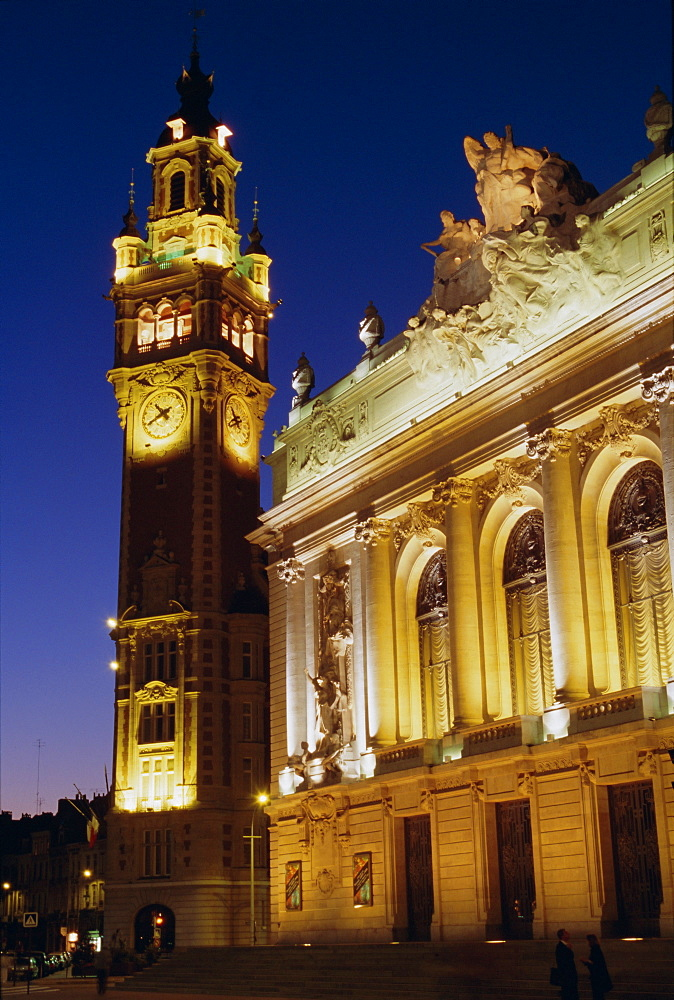 Opera and Chamber of Commerce, Lille, Nord, France, Europe