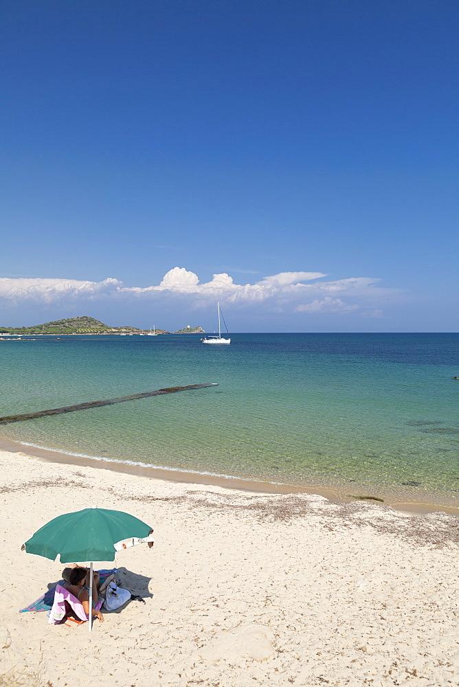 Beach, Baia di Nora, Cagliari, Sardinia, Italy, Mediterranean, Europe - 526-3794