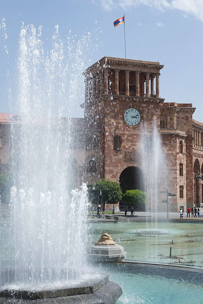 Republic square, Yerevan, Armenia, Central Asia, Asia