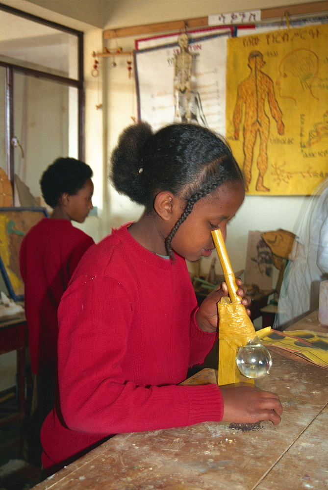 Improvised learning, classroom aids, Addis Ababa, Ethiopia, Africa