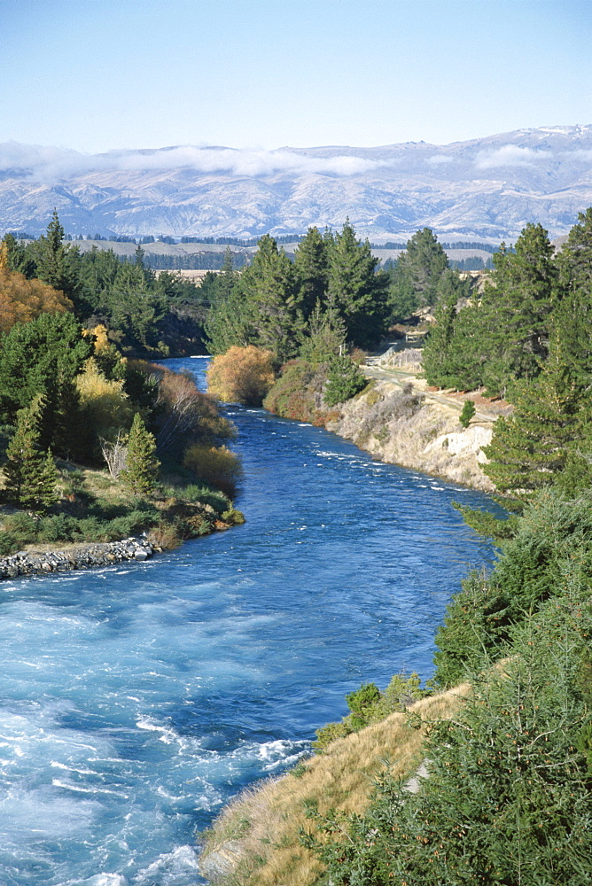 Exit river from Lake Wanaka, Otago, South Island, New Zealand, Pacific