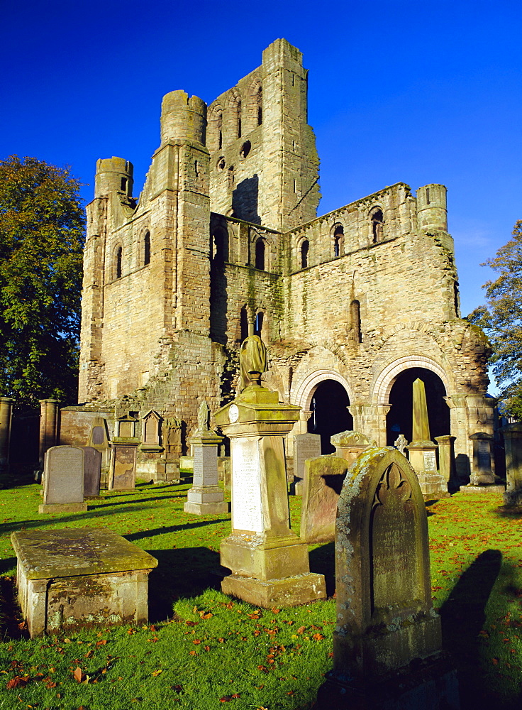 12th Century Benedictine Abbey founded by King David in 1128, Kelso, Scottish Borders, Scotland