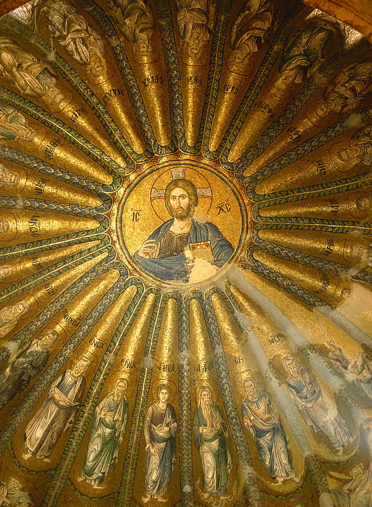 Christ Pantocrator mosaic (St. Saviour in Chora), Kariye Camii (Tile Church), Istanbul, Turkey, Europe - 59-2217