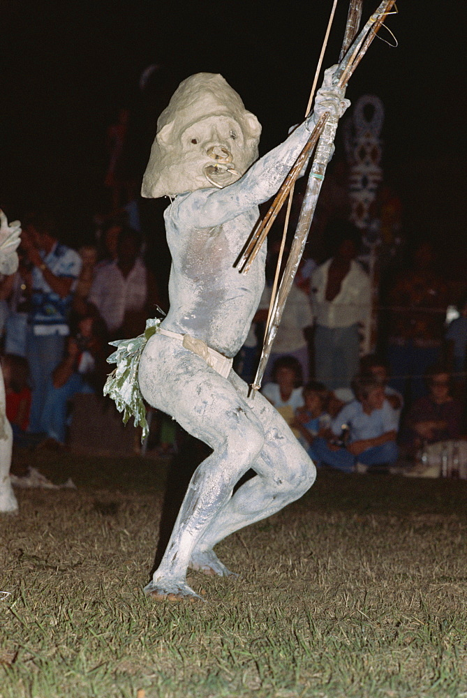 Mudman from Asaro district in the Highlands, at sing sing, Kowedobu, Port Moresby, Papua New Guinea, Pacific