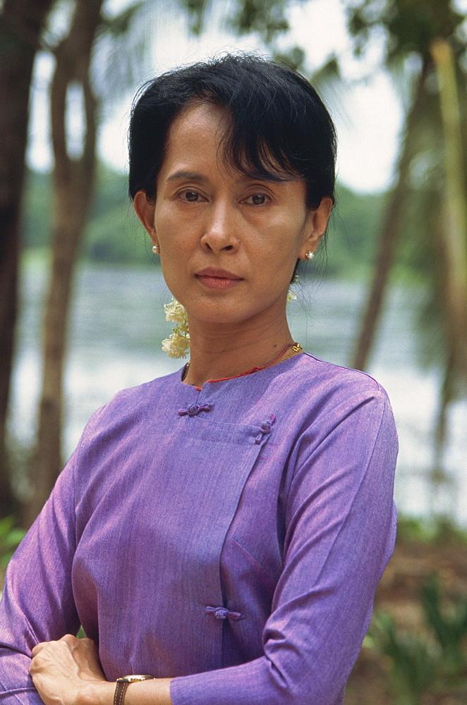 Aung San Suu Kyi at home, Rangoon, Myanmar (Burma), Asia - 615-339