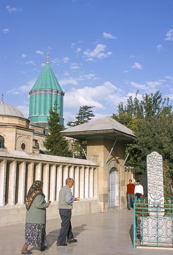 Meylana (Mevlana) Museum, Rumi's Grave, Konya, Anatolia, Turkey, Asia Minor, Asia