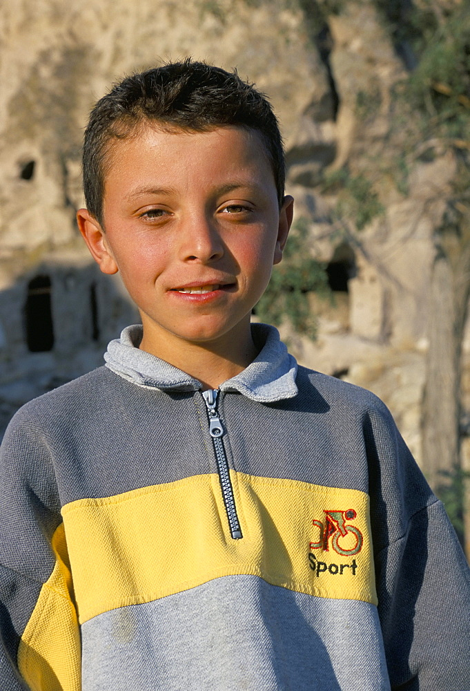 Portrait of a young boy, Cappadocia, Anatolia, Turkey, Asia Minor, Asia