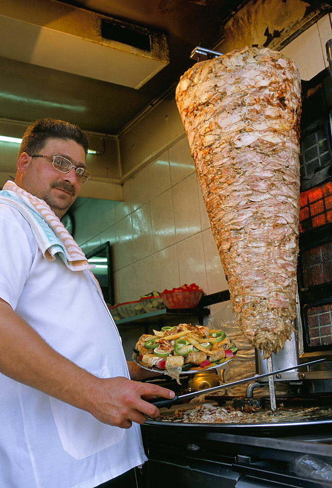 Kebab stand, Damascus, Syria, Middle East