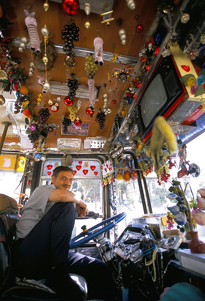 Decorated bus, Damascus, Syria, Middle East