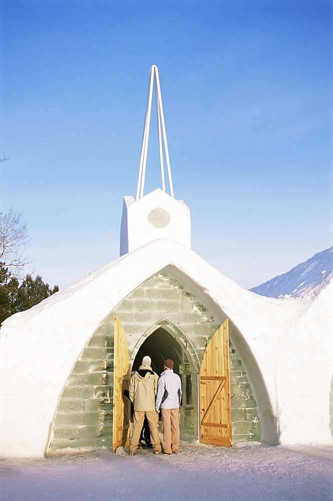 Ice chapel, Ice Hotel, Quebec, Quebec, Canada, North America - 615-897