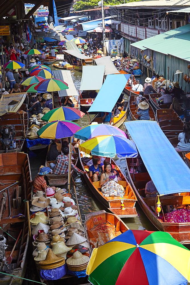 Dumnoen Saduak Floating Market, Bangkok, Thailand, Southeast Asia, Asia - 627-1341