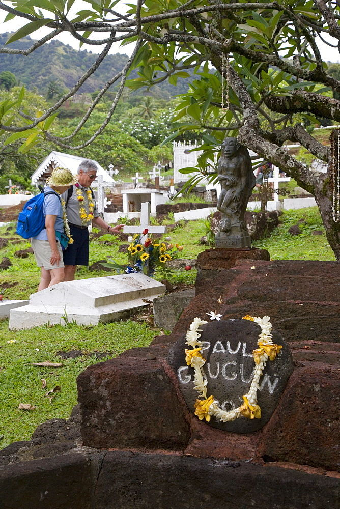 Paul Gauguin's grave, Atuona, Hiva Oa, Marquesa Islands, French Polynesia