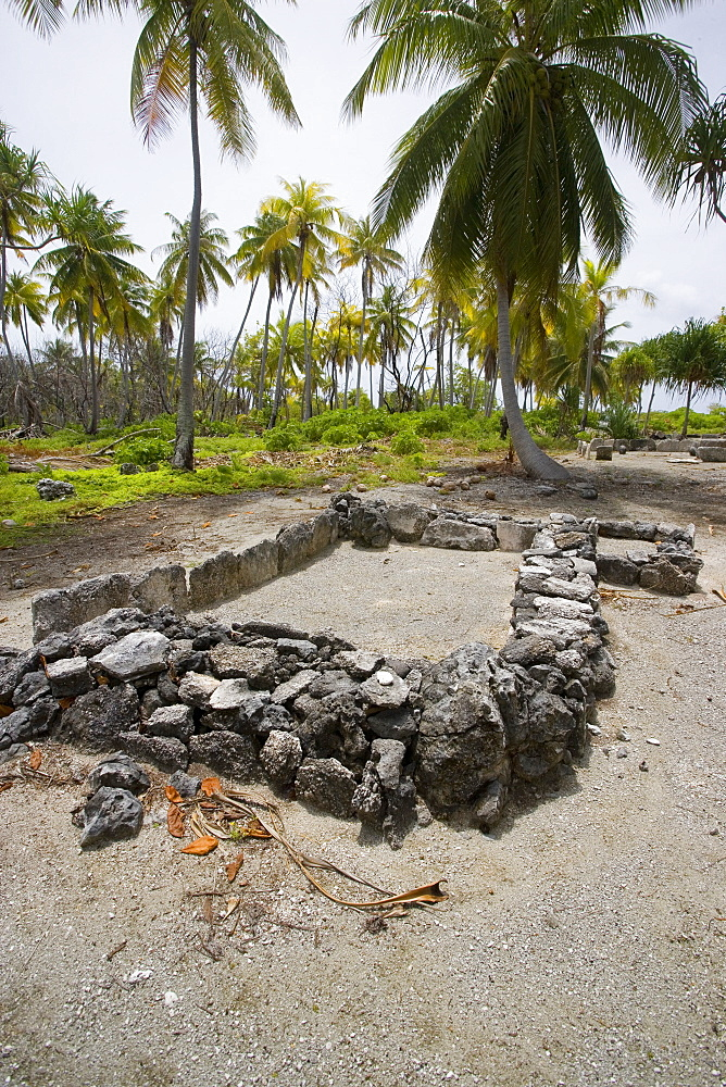 Marae, Fakarava, Tuamotu Islands, French Polynesia