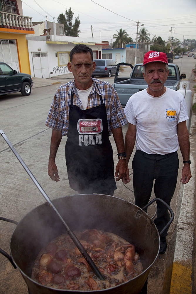 Cooking chicharones, Mazatlan, Sinaloa, Mexico