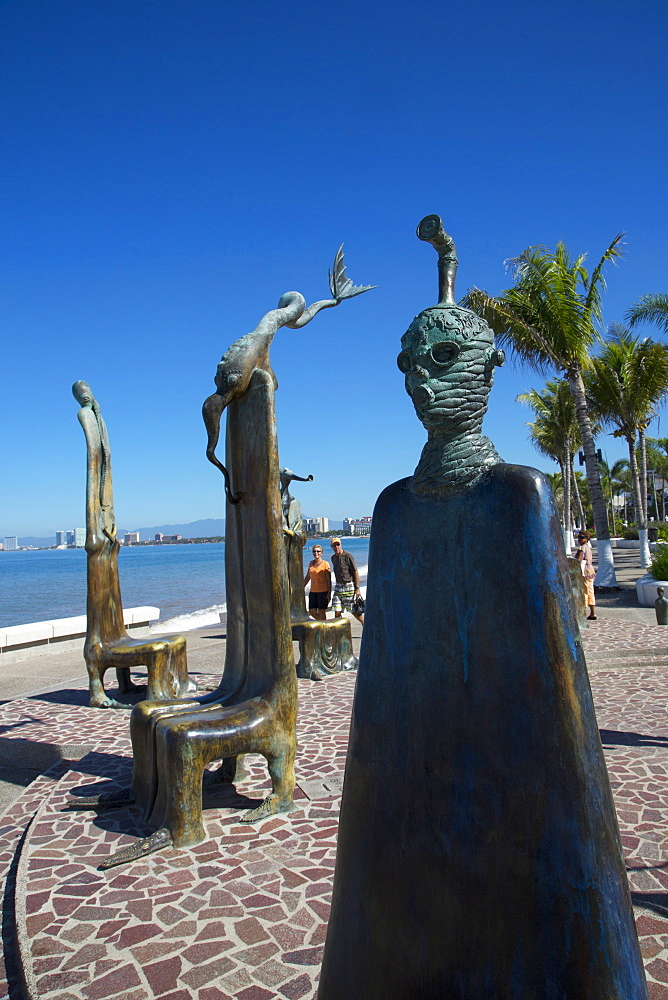 La Rotonda del Mar (The Rotunda of the Sea) by Alejandro Colunga, 1997, The Malecon, Puerto Vallarta, Jalisco, Mexico, North America - 632-5412